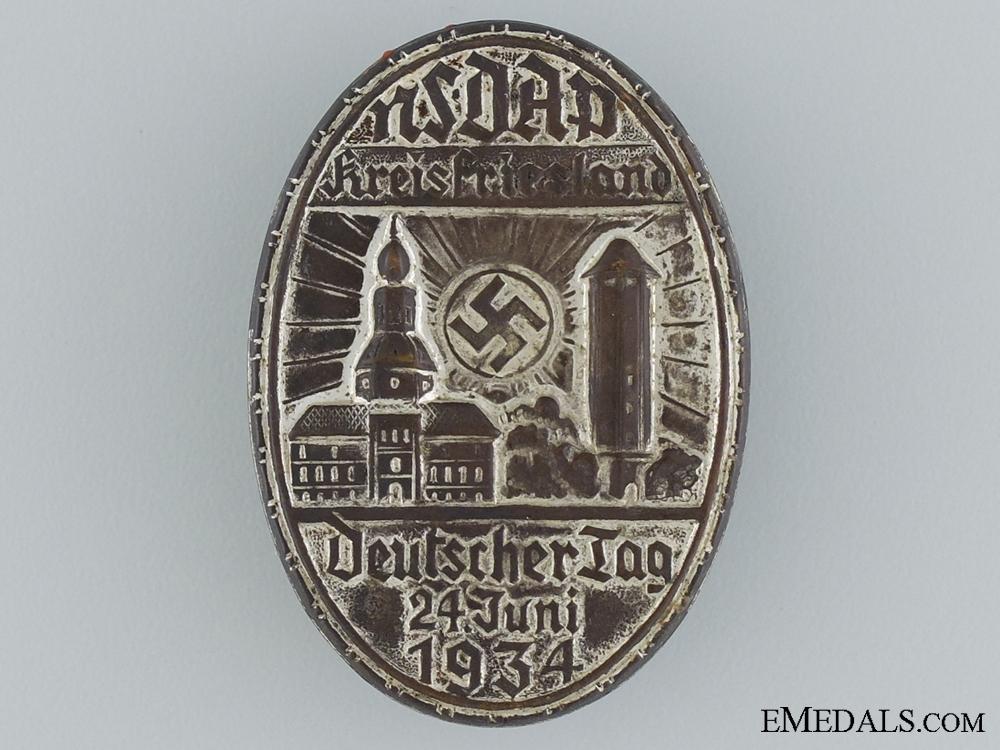 eMedals-1934 NSDAP Kreisfriesland Tinnie