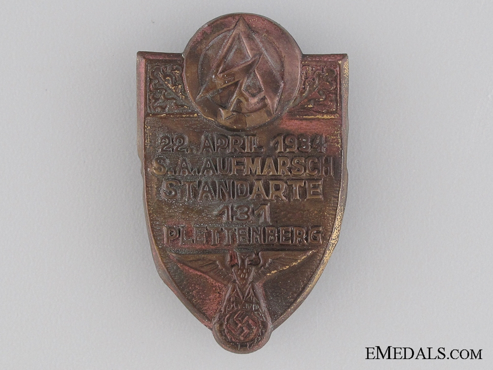 eMedals-1934 Plettenberg SA Tinnie