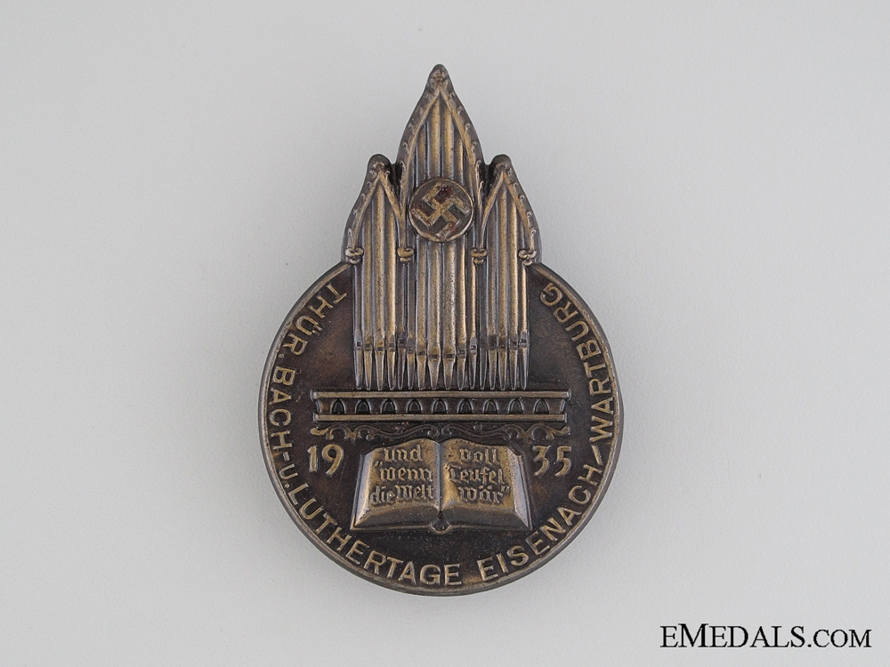 eMedals-1935 Bach and Luther Days Tinnie