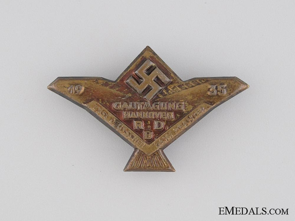 eMedals-1935 Federation of German Civil Servants Tinnie