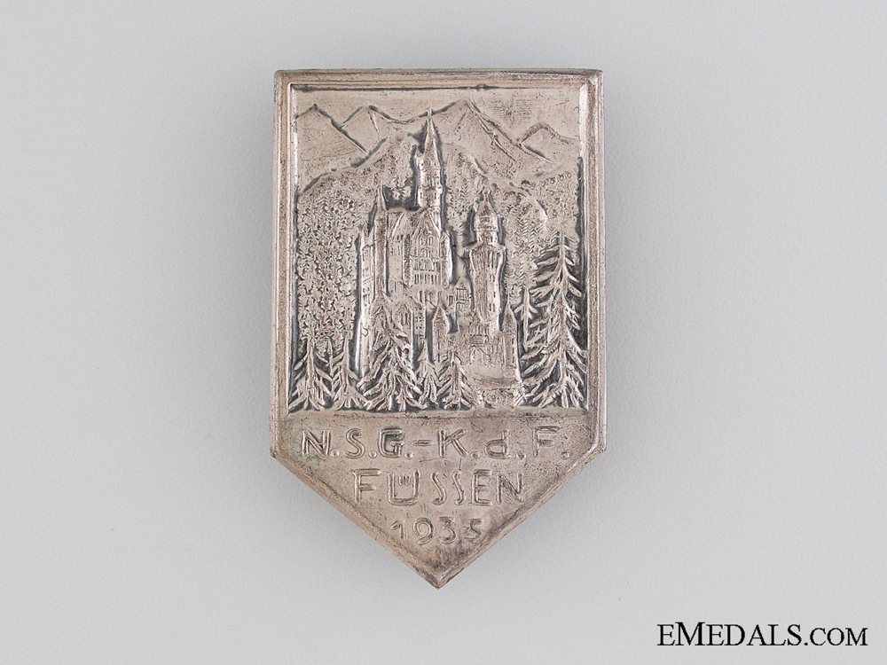 eMedals-1935 N.S.G. Kraft durch Freude in Fussen Tinnie