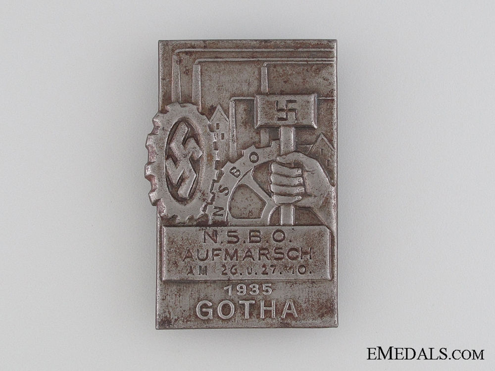 eMedals-1935 NSBO Aufmarsch Gotha Tinnie