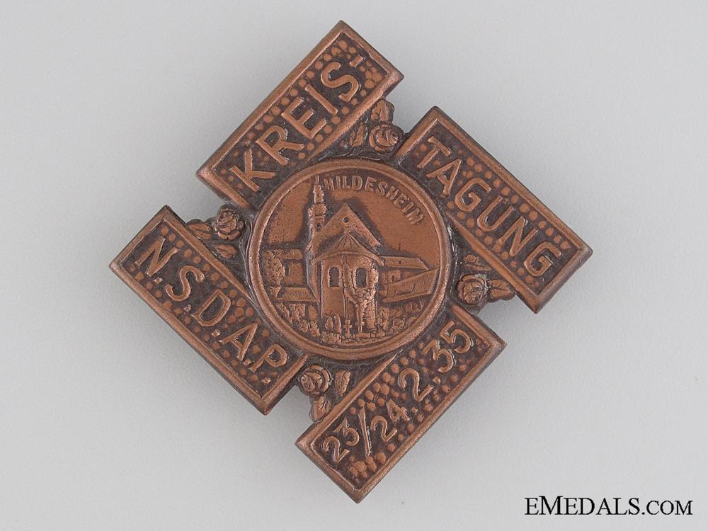 eMedals-1935 NSDAP Kreis Tagung Tinnie