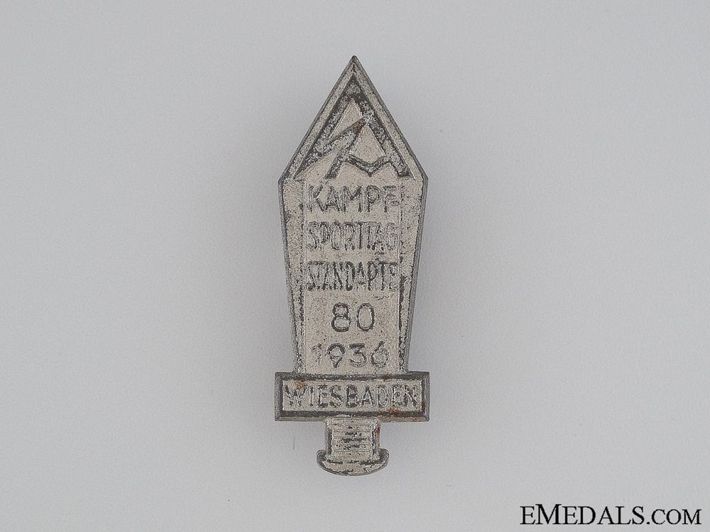 eMedals-1936 Kampf Sporttag Standarte Wiesbaden Tinnie
