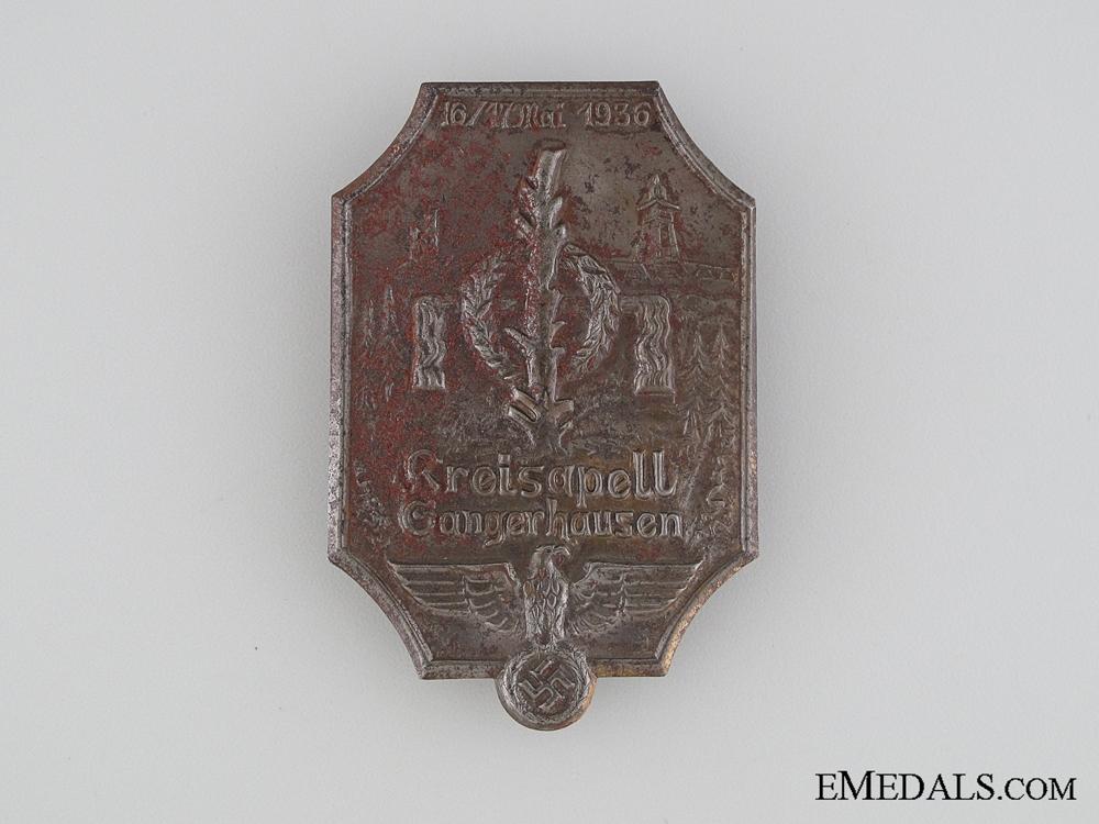 eMedals-1936 Kreisapell Gangerhausen Tinnie