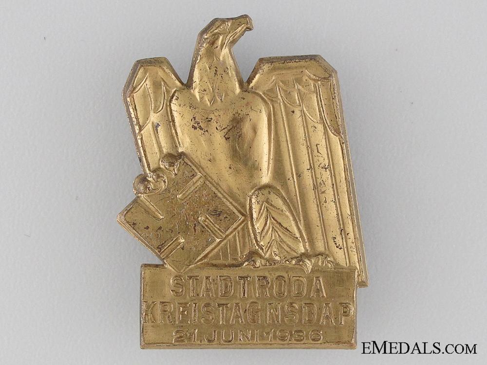 eMedals-1936 NSDAP Stadtroda Tinnie