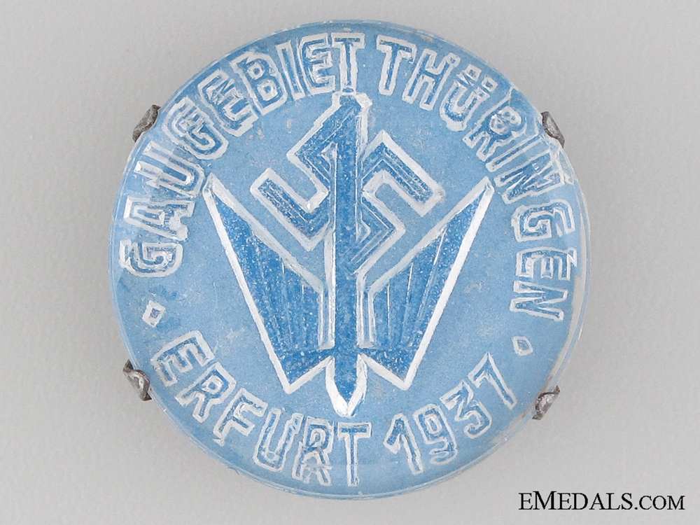 eMedals-1937 Erfurt Stenographer's Badge