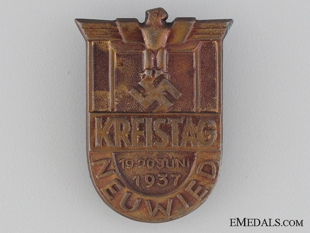 eMedals-1937 Neuwied Kreistag Tinnie