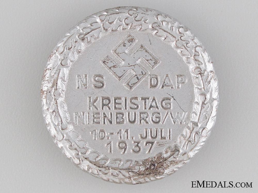eMedals-1937 NSDAP Gathering Tinnie