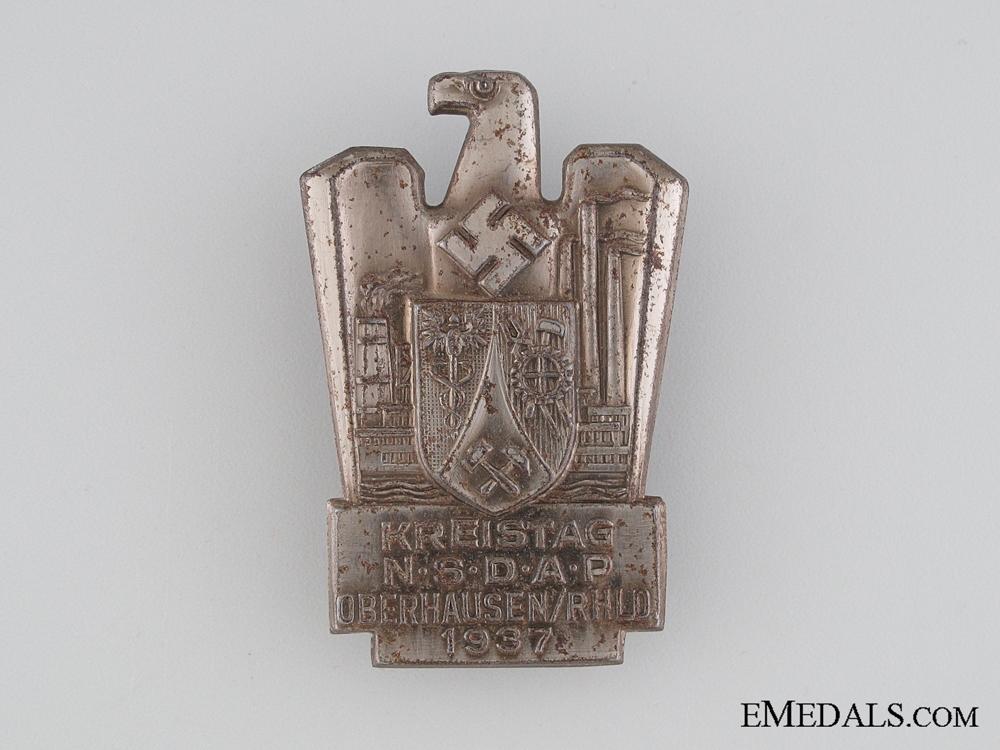 eMedals-1937 NSDAP Meeting Tinnie