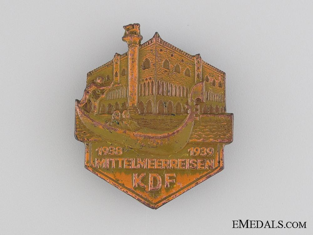 eMedals-1938-39 KDF Mittelmeerreisen Badge