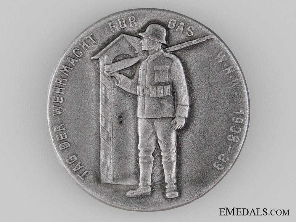eMedals-1938-39 Wehrmacht Day for Winter Work Tinnie