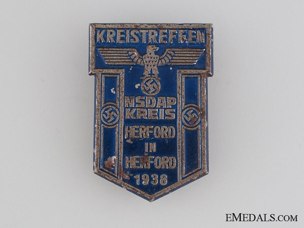 eMedals-1938 NSDAP Council Meeting Tinnie