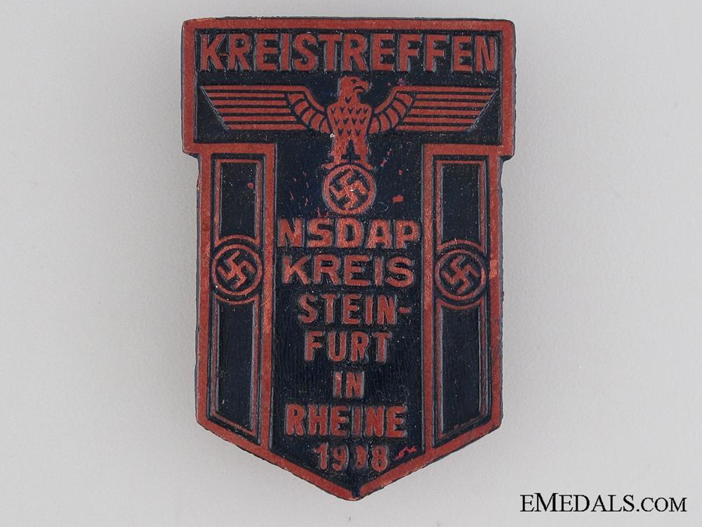 eMedals-1938 NSDAP Kreistraffen Tinnie