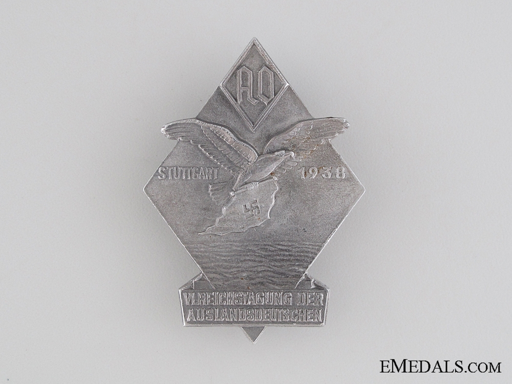 eMedals-1938 Sixth Auslands-Organisation Tinnie