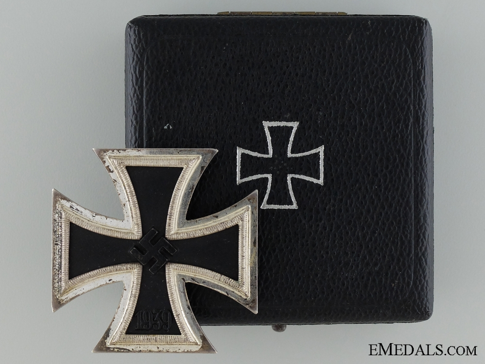eMedals-1939 First Class Iron Cross; Marked 100; Cased