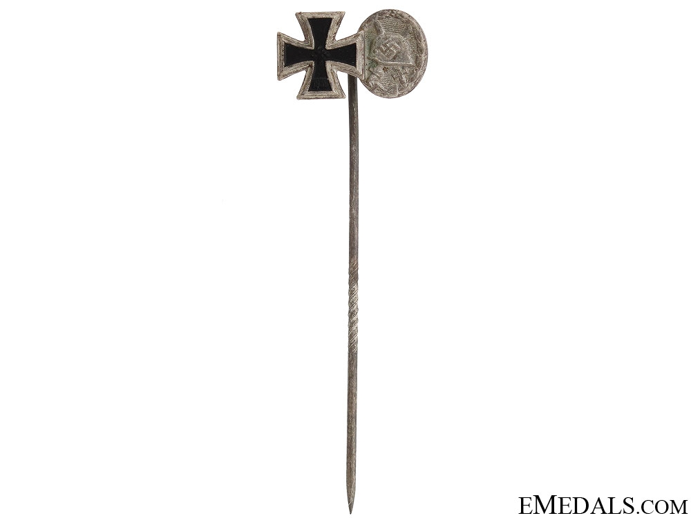 eMedals-1939 Iron Cross & Silver Wound Badge Stickpin
