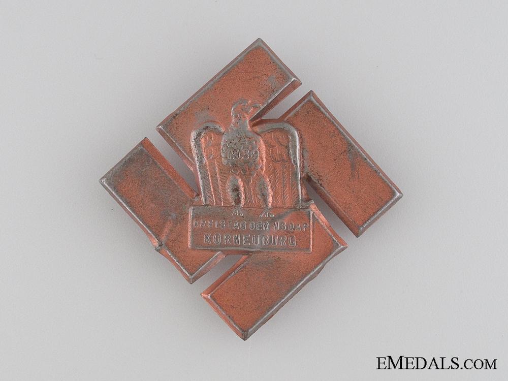 eMedals-1939 Kreistag der NSDAP Korneuburg Tinnie