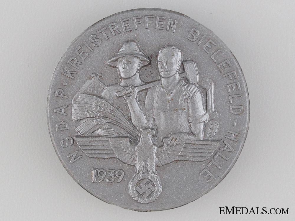 eMedals-1939 NSDAP Bielefeld-Halle Tinnie