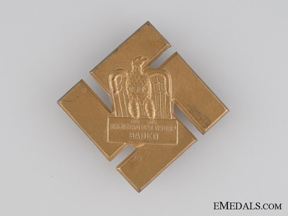 eMedals-1939 NSDAP Party Council Meeting Tinnie