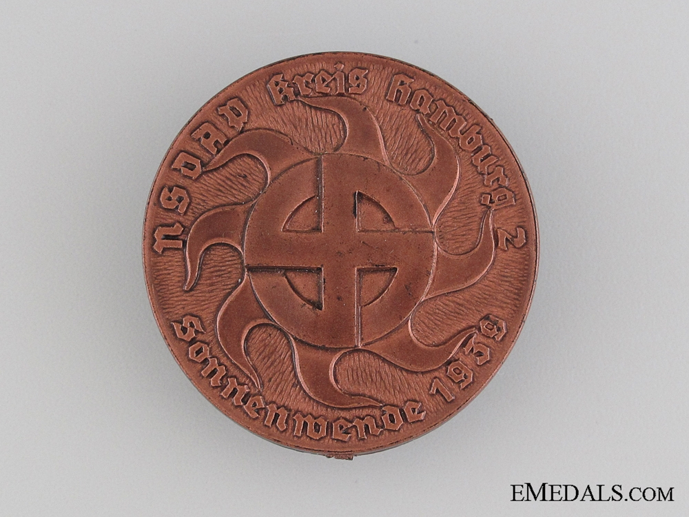 eMedals-1939 NSDAP Sun and War Celebration Tinnie