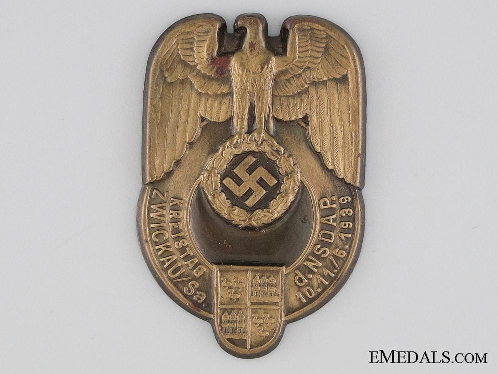 eMedals-1939 NSDAP Zwickau/Sa Tinnie