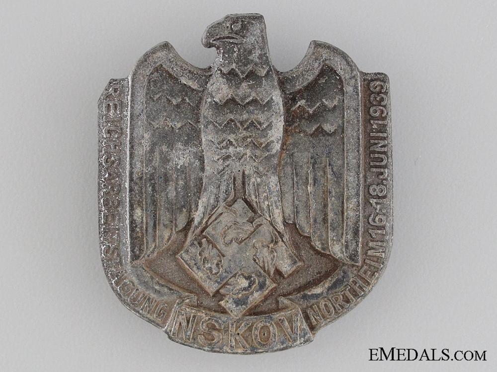 eMedals-1939 NSKOV Reich Labour Conference Tinnie