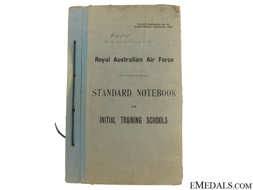 eMedals-1941 Royal Australian Air Force NoteBook