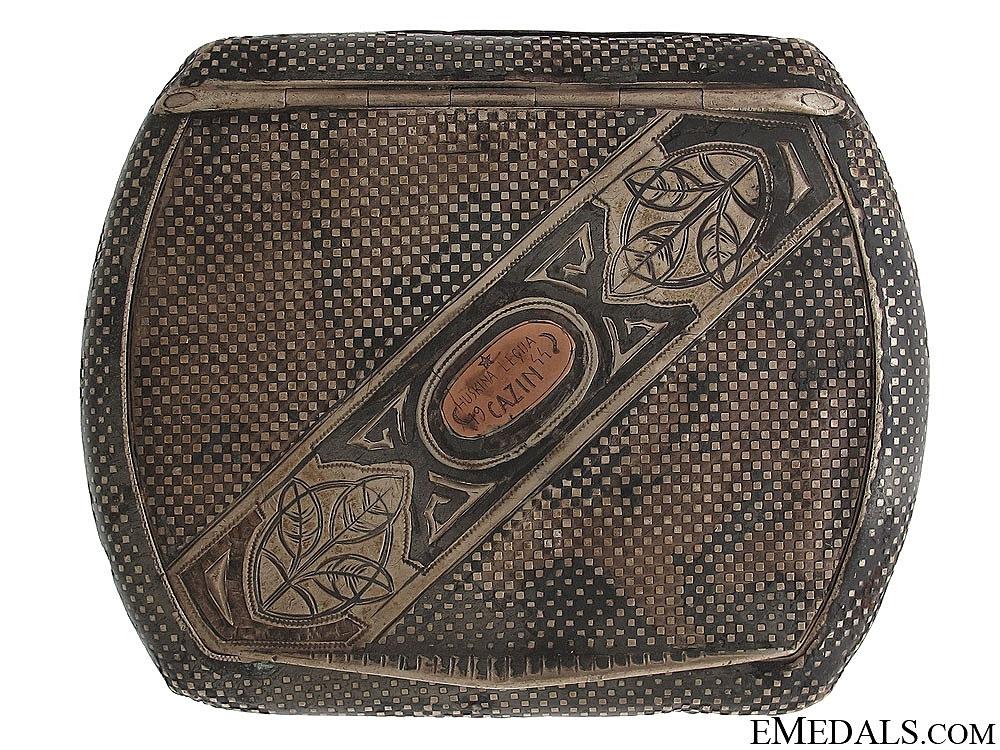 eMedals-1944 Huskin's Division Cazin Cigarette Case