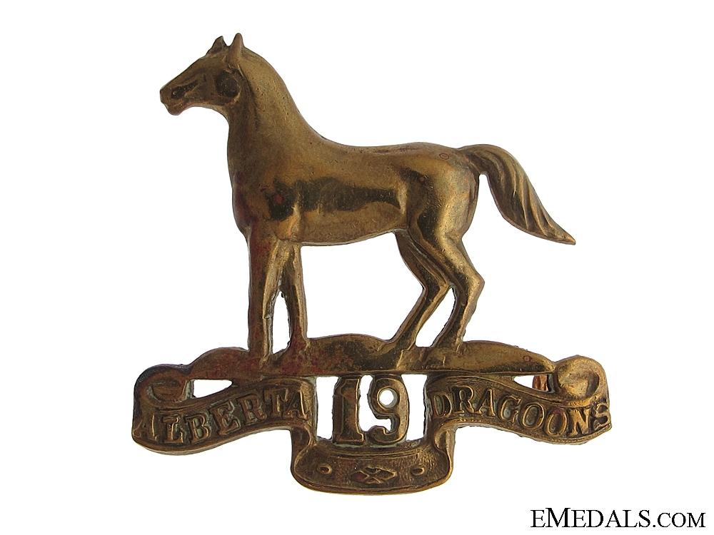 eMedals-19th Alberta Dragoons Cap Badge