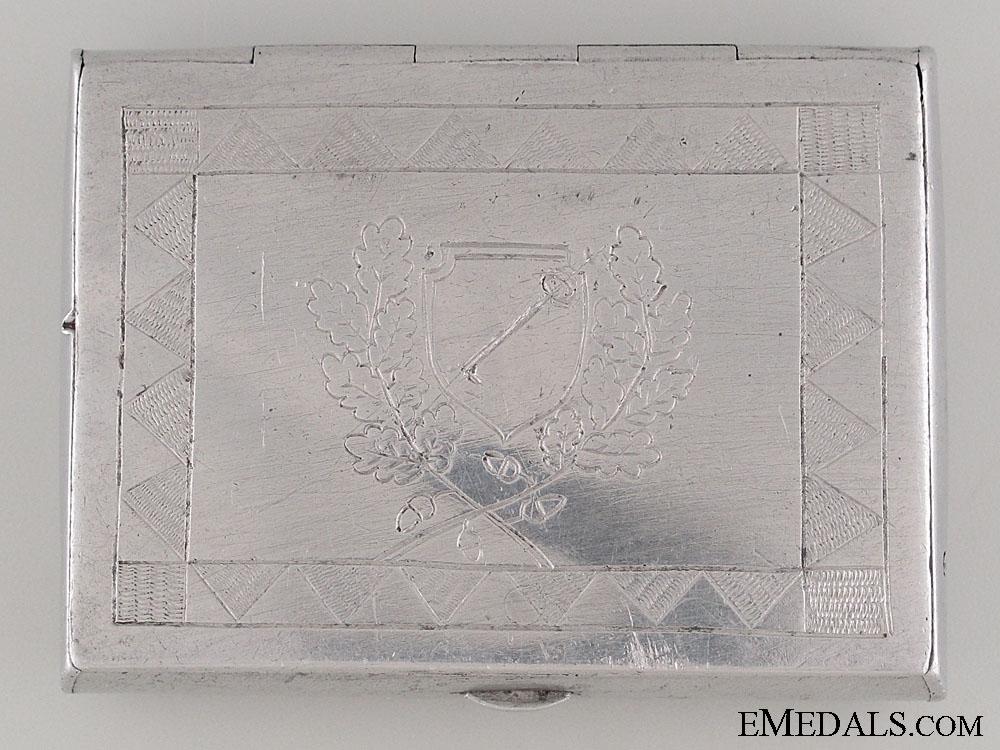 eMedals-1st SS Panzer Div. Leibstandarte Cigarette Case