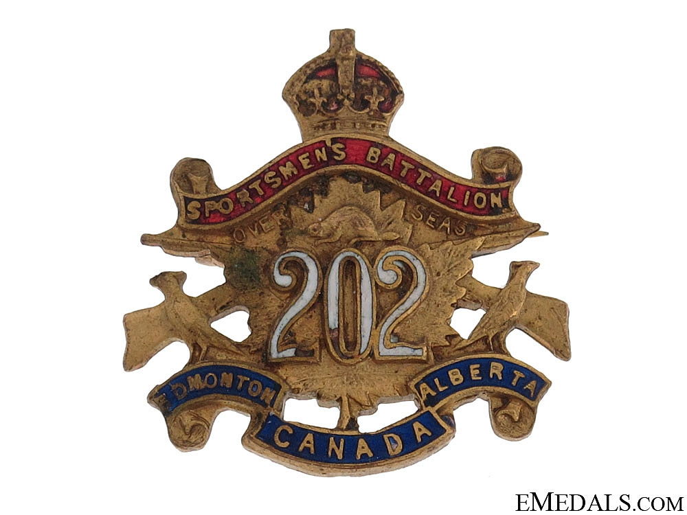 eMedals-202nd Sportsmen's Battalion Sweetheart Pin