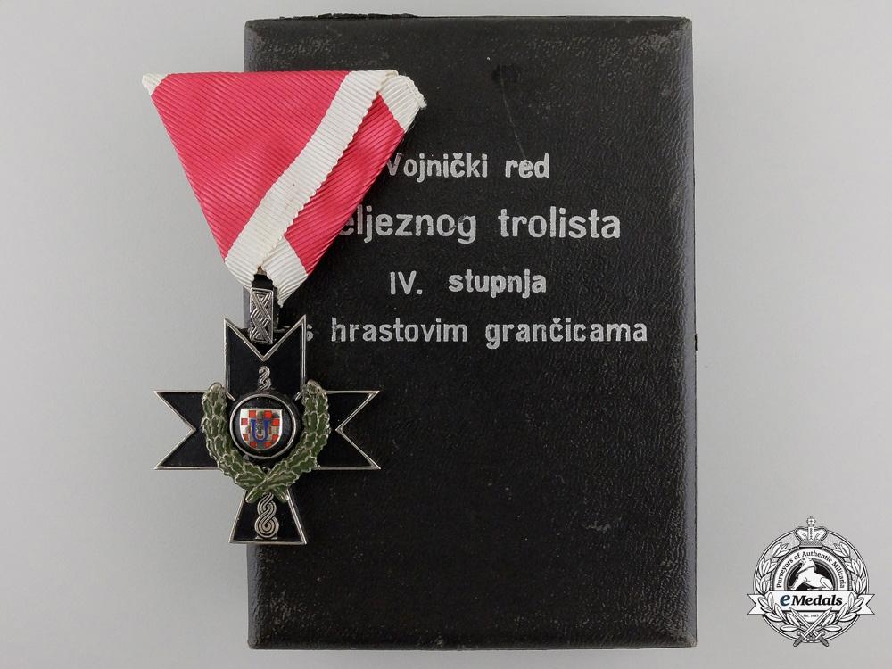 eMedals-A Croatian Orderof Iron Trefoil toOblt. Hartman I.R. 184