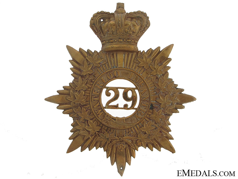 eMedals-29th Waterloo Battalion of Infantry Helmet Plate