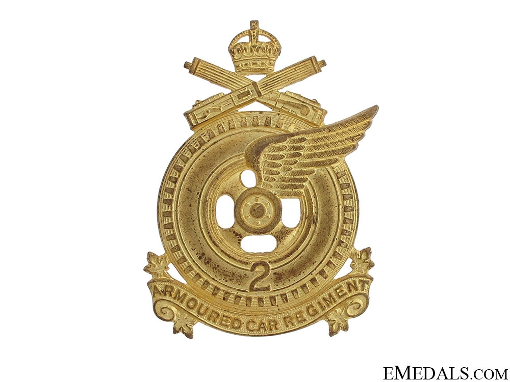 eMedals-2nd Armoured Car Regiment Cap Badge
