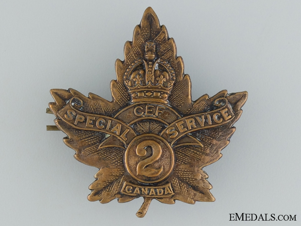 eMedals-2nd Canadian Special Service Company Cap Badge CEF
