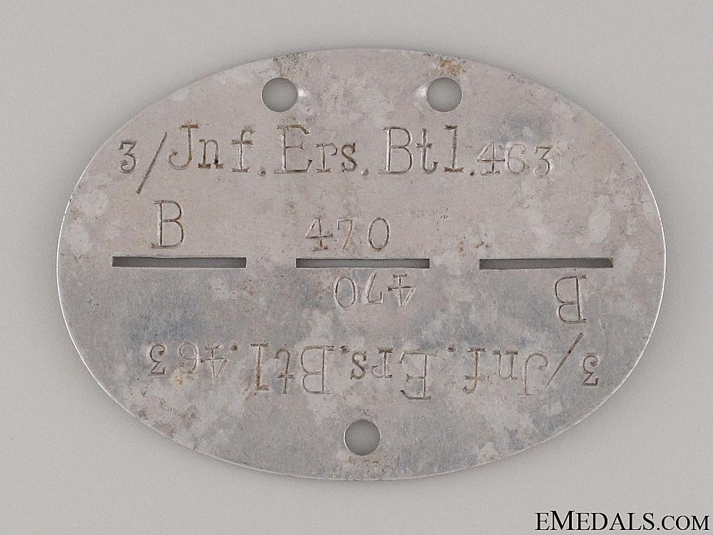 eMedals-3/Jnf.Ers.Btl.463 ID Disc
