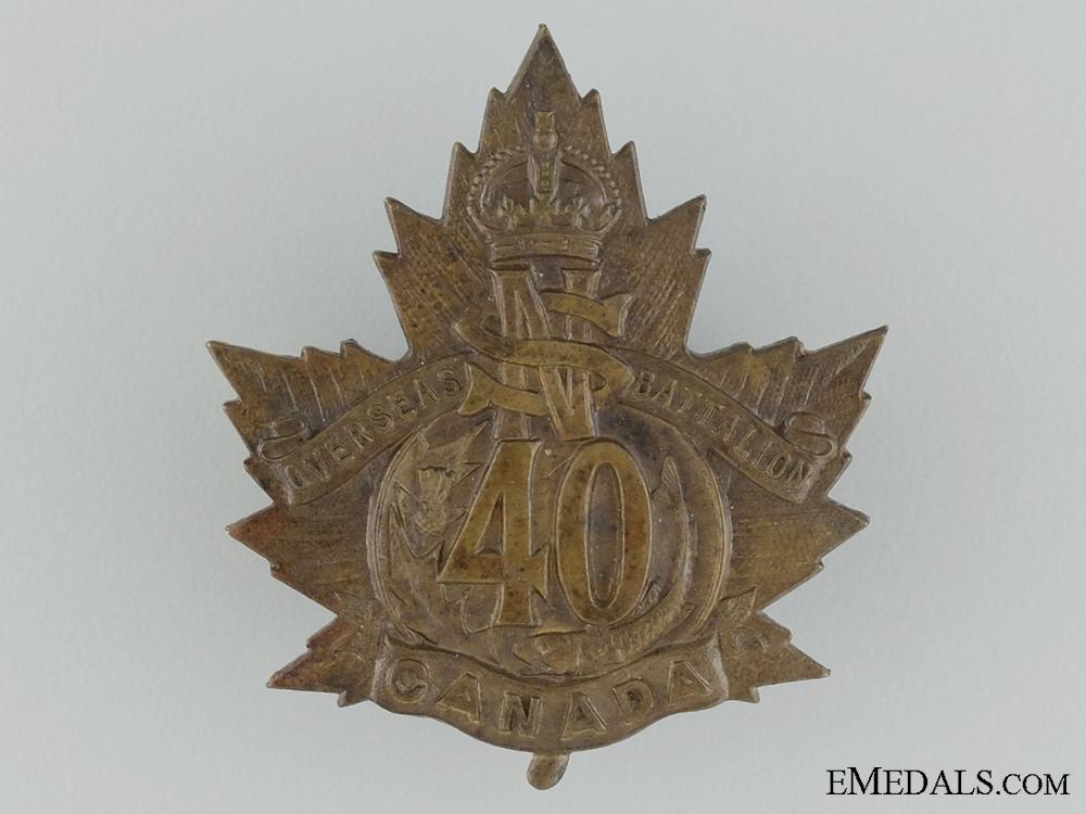 eMedals-40th Battalion (Halifax, Nova Scotia) Cap Badge CEF