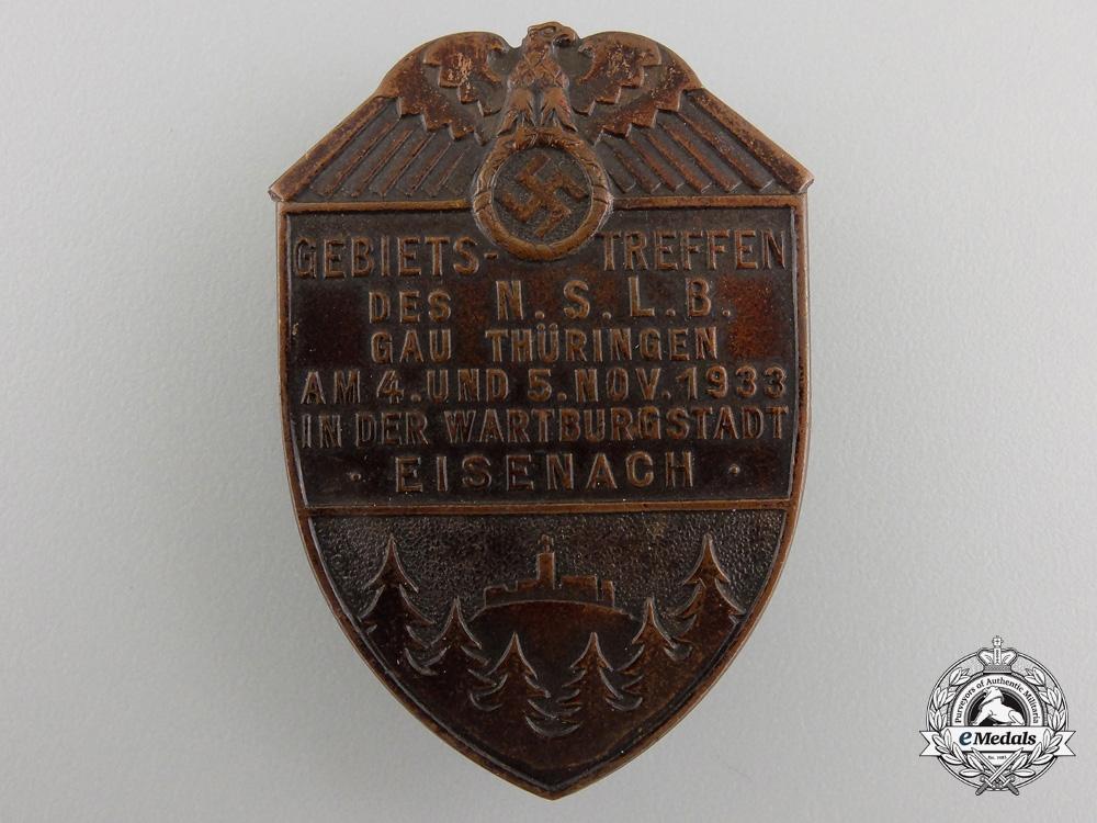 eMedals-A1933 NSLB Gau Thüringen Meeting Badge