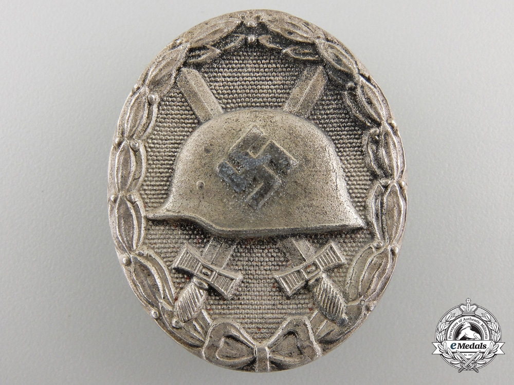 eMedals-A Silver Grade Wound Badge by Josef Rückert & Sohn