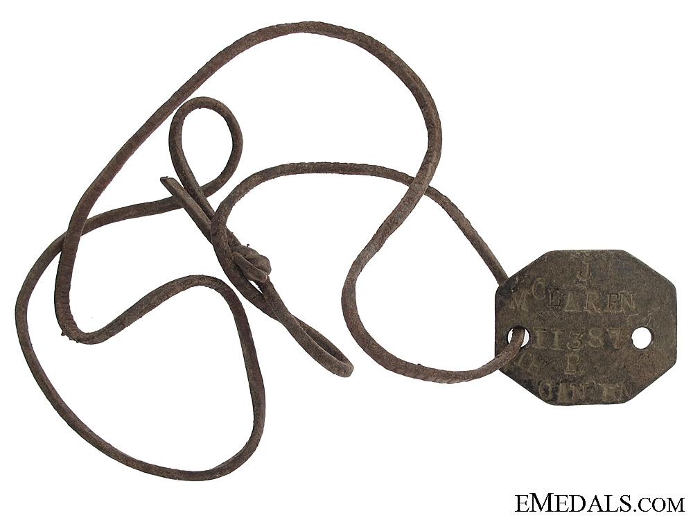 eMedals-4th Bat. Dog Tag of Military Medal Recipient