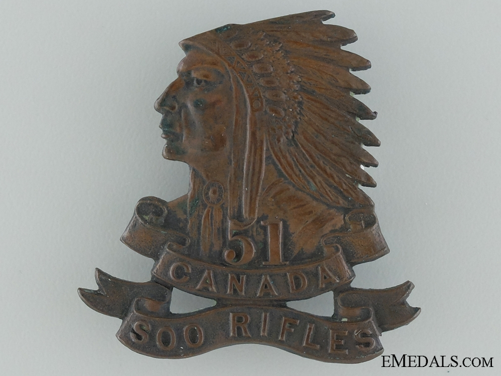 eMedals-51ST Soo Rifles Militia Cap Badge by Gaunt