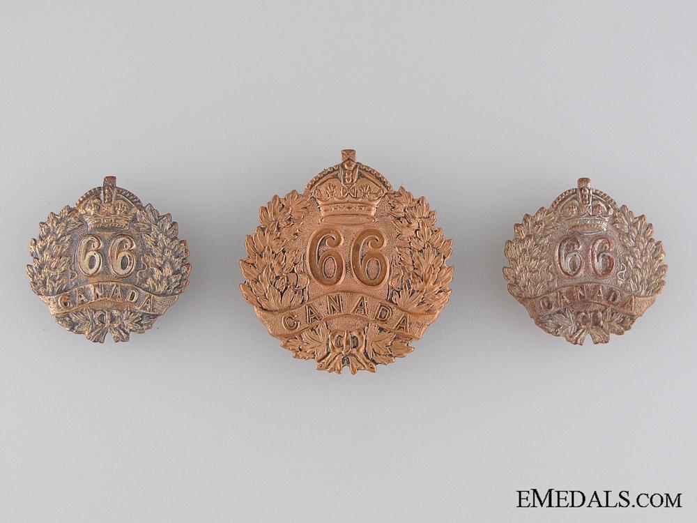 eMedals-66th Edmonton  Battalion Insignia Set CEF