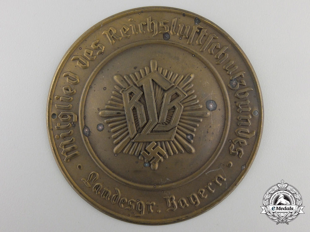 eMedals-A German Air Protection Federation (RLB) Membership Plaque