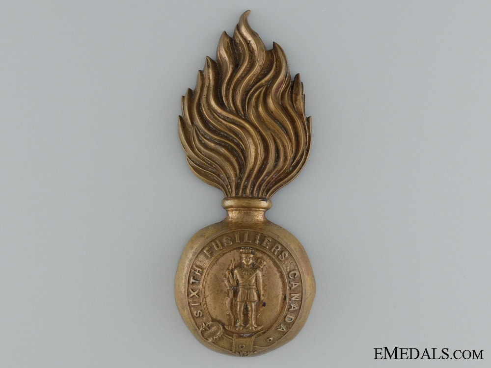 eMedals-6th Fusiliers (Hochelaga Light Infantry) Fur Cap Grenade