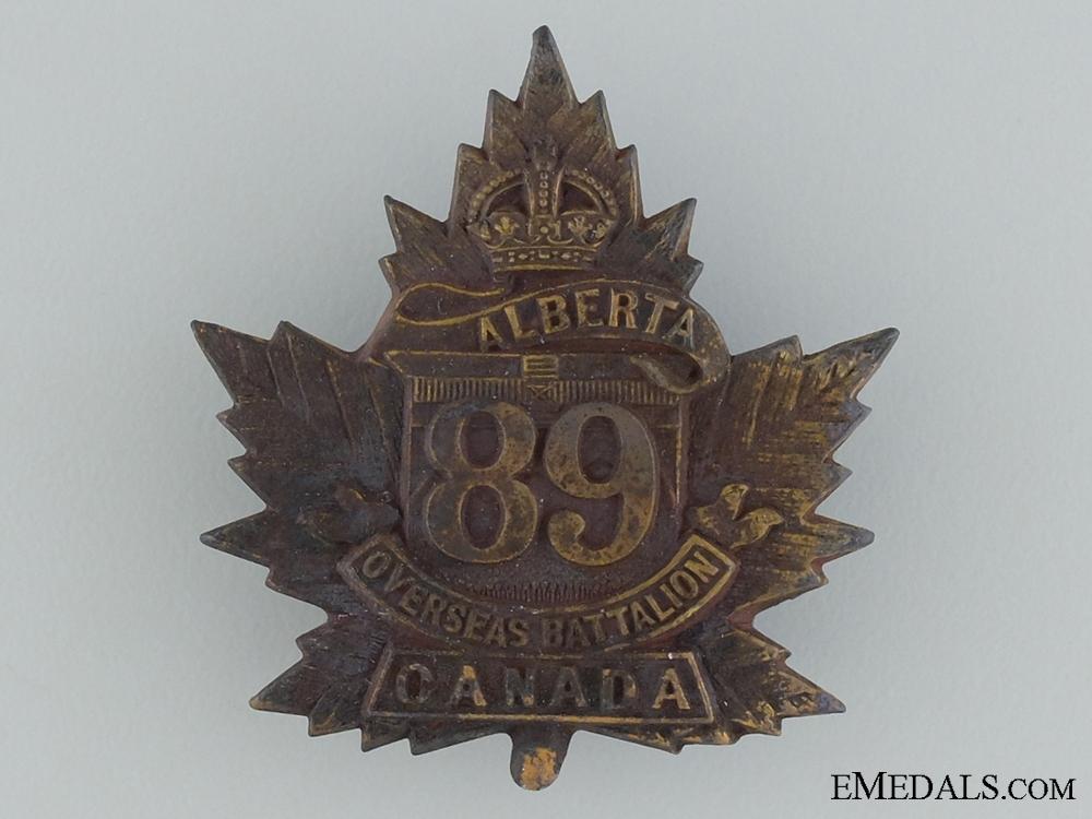 eMedals-89th Battalion (Calgary, Alberta) Cap Badge CEF