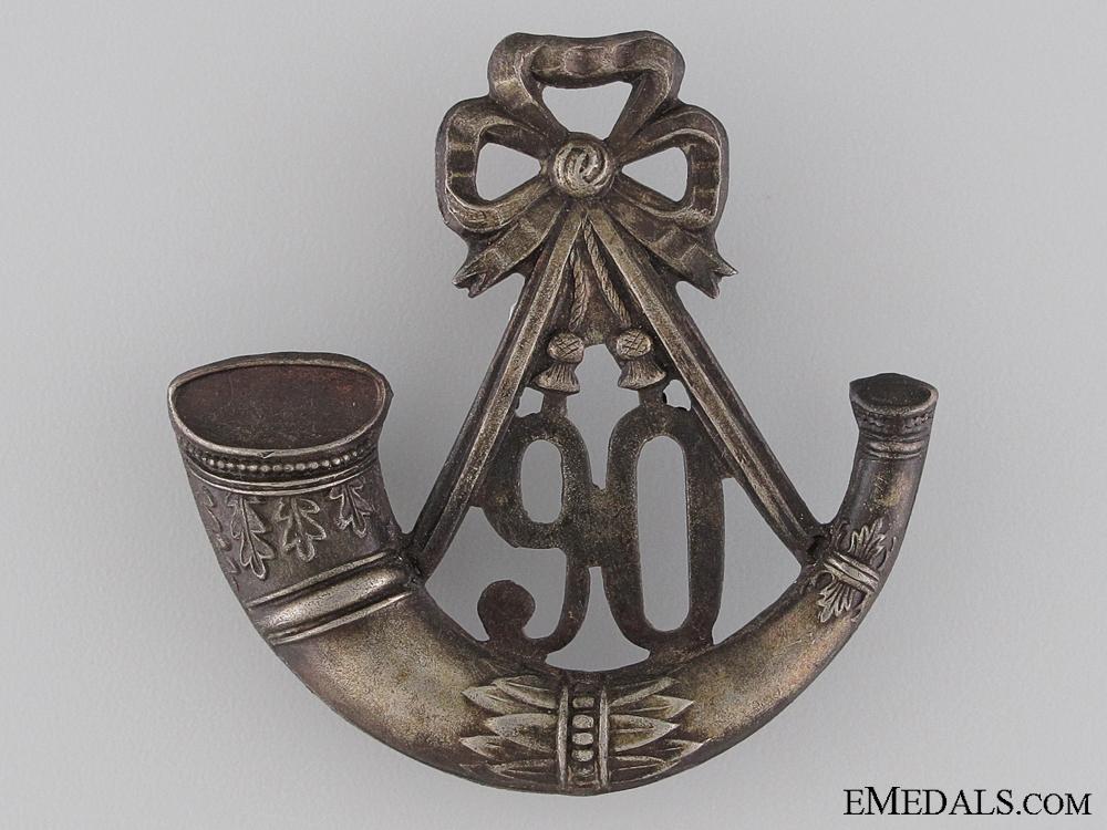 eMedals-90th Regiment of Foot (Perthshire Regiment) Light Infantry Cap Badge
