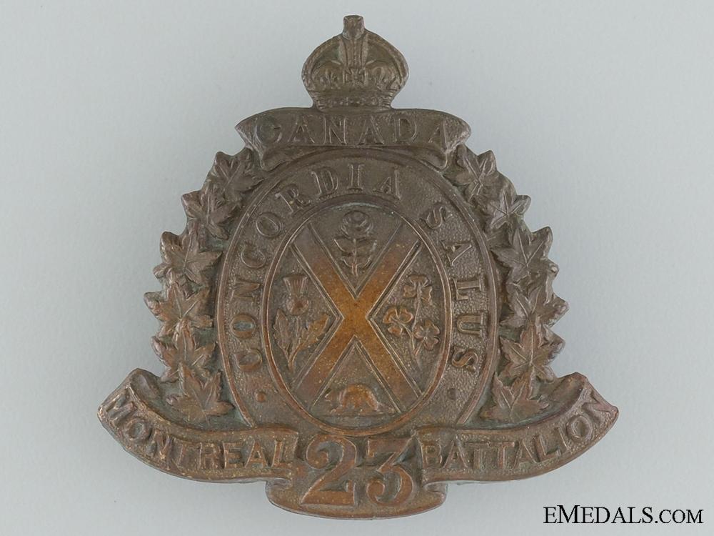 eMedals-23rd Battalion (Quebec City) Cap Badge CEF