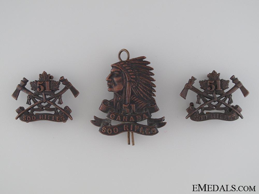 eMedals-51st Soo Rifles Militia Insignia by Gaunt