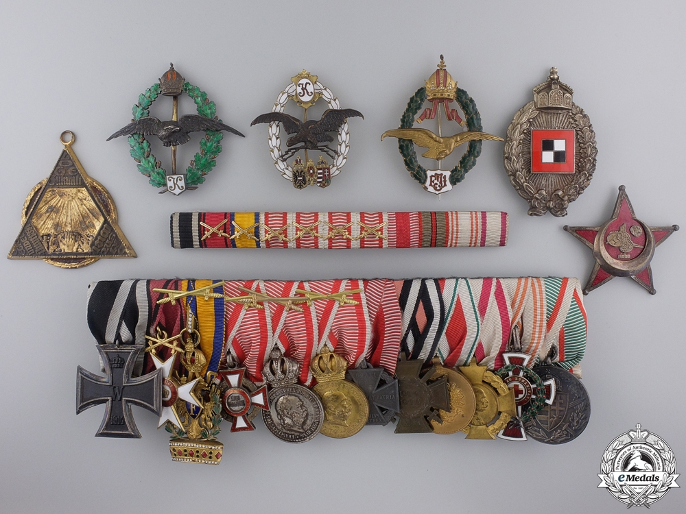 eMedals-A Superb First War Aviation Grouping to Austrian Hauptmann